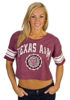 Texas A Women's Cropped Shirt