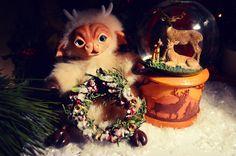 https://vk.com/public77072955 группа вк. #Новогодний# #олененок# #из# #полимерной# #глины# #Christmas# #deer# #made# of #polymer# #clay# #deer# #hoof# #horn#