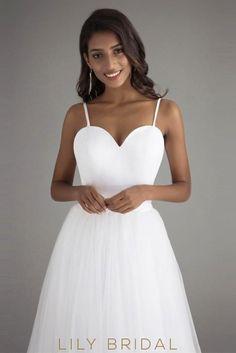 71c4fb464ee Tulle A-Line Sleeveless Sweetheart Spaghetti Straps Prom Dress Styly  Svatebních Šatů