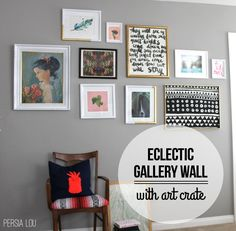 Persia Lou: An Eclectic Gallery Wall with Art Crate (+ Giveaway!)