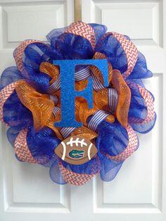 Florida Gators wreath-On my door Nov. 2, 2013
