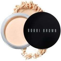 Bobbi Brown Retouching Loose Powder ($46) ❤ liked on Polyvore featuring beauty products, makeup, face makeup, face powder, peach, mineral face powder, bobbi brown cosmetics and loose face powder