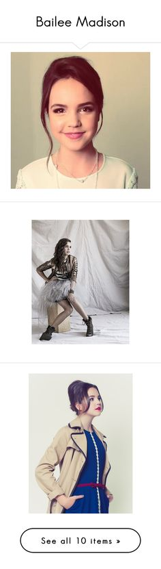 """""""Bailee Madison"""" by styles-love-11 ❤ liked on Polyvore featuring bailee madison and people"""
