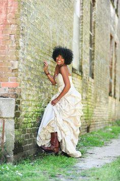 Wedding dress/Boots