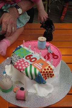Perfect cake for a quilter :)