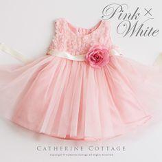 商品番号: MB278B バラとチュールのベビードレス 80 90 95cm ピンク ホワイト レッド ミントグリーン ネイビー 赤 白 紺 結婚式 発表会 お宮参り 出産祝い 七五三 赤ちゃん フォーマル 女の子 MB278B 子供ドレス