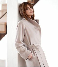 Manteau drap de laine doublé