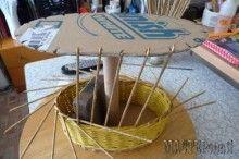 Как сделать форму для плетения корзинок из газет