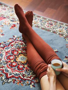 Free People Lola Sheer Rib Thigh High socks at Free People Clothing Boutique Claudia Bartelle, Look Fashion, Autumn Fashion, Fashion Goth, Bohemian Fashion, Bohemian Decor, Hygge, Mode Inspiration, Fashion Inspiration