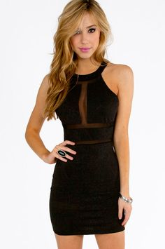 Embossy Bodycon Dress in Black via Tobi, $37
