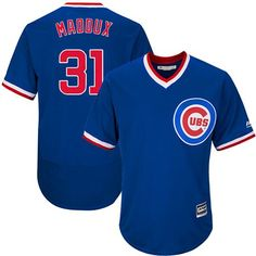 c54f4a56e54 Cubs  31 Greg Maddux Blue Flexbase Authentic Collection Cooperstown Stitched  MLB Jersey