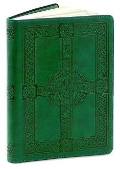 "Green Embossed Celtic Cross Flexi Journal (5""x8"") $16.95"