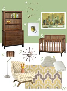 Would you Look at that! Sleepy King is featured in this Modern Mid Century Muted Nursery from Buy Modern Baby!