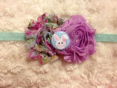 Easter Bunny Floral and Purple Flowers on a by HannahHeadbands, $8.00