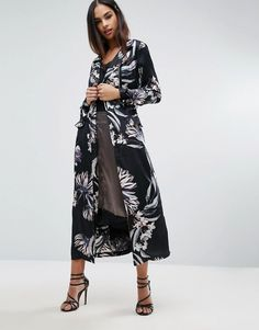 Missguided Floral Print Duster Coat | #Chic Only #Glamour Always