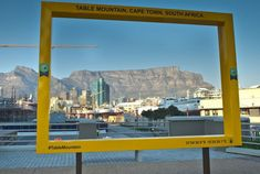 Yellow Frames to discover Table Mountain in Cape Town Table Mountain Cape Town, African Design, World Heritage Sites, Natural World, The Locals, To Go, Shots, Clouds, City