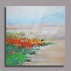 Peint à la main peinture à l'huile abstraite moderne avec cadre étiré prêt à accrocher - EUR € 79.99