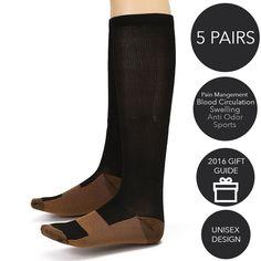 1e15a94a686 3-pack Copper Infused Compression Therapy Socks - Anti Odor