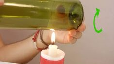How to Cut Wine Bottles for Crafts. A great way to recycle old wine bottles is to use them for home decorations. Old Wine Bottles, Wine Bottle Art, Bottle Candles, Diy Bottle, Recycled Bottles, Wine Bottle Crafts, Liquor Bottles, Beer Bottle Glasses, Cutting Glass Bottles