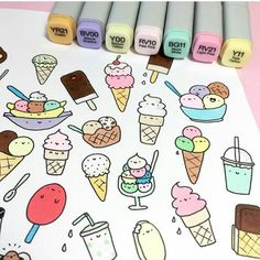 Doodle Art 509891989056498183 - Cute cartoon idea cute drawing to print cool idea drawing little animated pieces ice kawaii drawing milks . Kawaii Drawings, Doodle Drawings, Easy Drawings, Doodle Art, Kawaii Doodles, Cute Doodles, Food Doodles, Bullet Journal Ideas Pages, Bullet Journal Inspiration