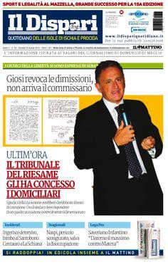 La copertina del 23 aprile 2015 #ischia #ildispari