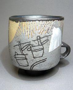 Ceramist John Maltby (British: 1936)