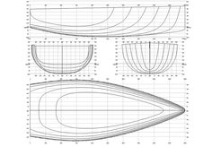 Click to close image, click and drag to move. Use arrow keys for next and previous. Yacht Design, Boat Design, Sailboat Restoration, Cruiser Boat, Wooden Canoe, Wood Boat Plans, Nautical Design, Boat Stuff, Boat Building