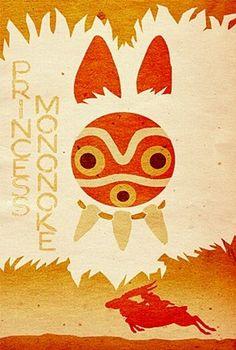 Princesa Mononoke (もののけ姫) - Poster / Capa / Cartaz
