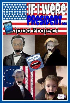 If I were President...EASY iPad Activity