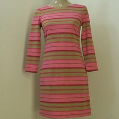 Beautiful Pink dress Beautiful stripped pink dress. See more pictures in a different post. Firm unless bundled. Thanks. Banana Republic Dresses