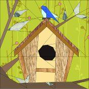 Birdhouse BoM March - via @Craftsy