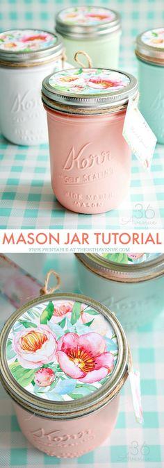 Mason Jars and Handm
