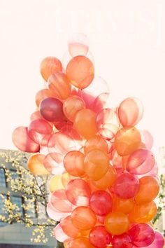 Balloons- love this color scheme for a wedding shower or wedding!