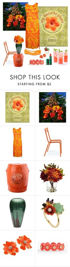 """""""My Favorite Plant"""" by christined1960 ❤ liked on Polyvore featuring Issey Miyake, Ethimo, Safavieh, Nearly Natural, Bombay, Les Néréides, Kenneth Jay Lane and Talbots"""