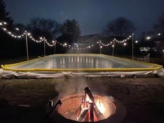 Backyard Hockey Rink, Backyard Ice Rink, Outdoor Rink, Cottage House Plans, Cottage Homes, Fire And Ice, Winter Fun, Outdoor Ideas, Landscape Design