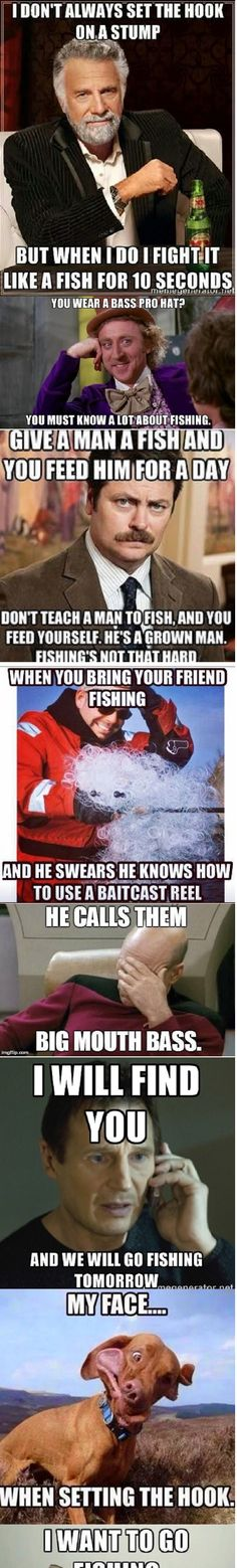A few of our favorite fishing memes.  Life is too short not to laugh your face off.
