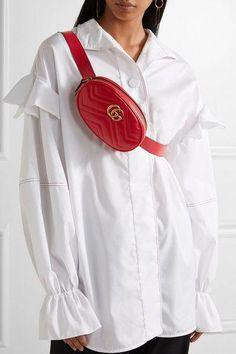 a9fdaf4d9c05 Gucci - Gg Marmont Quilted Leather Belt Bag - Red  Designerhandbags Red  Gucci Belt