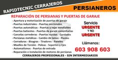 RapidTecnic Valencia: Reparación Persianas metálicas Polígono Raga, Picanya