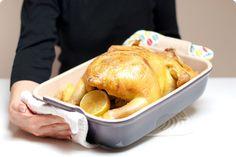 Pollo asado con patatas al horno