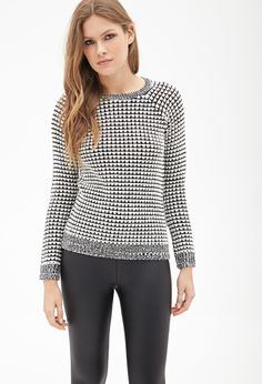 LOVE 21 Contemporary Classic Waffle Knit Sweater - Shop for women's Sweater - Heather grey/ivory Sweater Shop Forever, Forever 21, Contemporary Classic, Sweater Shop, Waffle Knit, Heather Grey, Latest Trends, Sweaters For Women, My Style