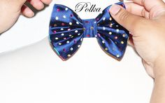 "Jay Nicole's Bows ""Polka""  Pre-tied Blue silk x Colorful Polka Dots  Come Shop at www.shopjaynicole.com  #jaynicolesbows #bowties #designerjaynicole #fashion #womensfashion #mensfashion"