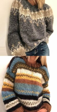 Women's Fashion Long Sleeve Fair Isle Sweater Plus Size Oversized Sweater Autumn and winter fashion street style! Plus size and fashion colorful design chic comfortable coats and jackets for women you can option. Sweater Fashion, Sweater Outfits, Skandinavian Fashion, Punto Fair Isle, Oversized Pullover, Fall Sweaters, Fair Isle Sweaters, Fair Isle Knitting, Sweater Knitting Patterns