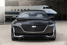 The squinting headlamps on the Cadillac Escala make it look meaner than the average Caddy