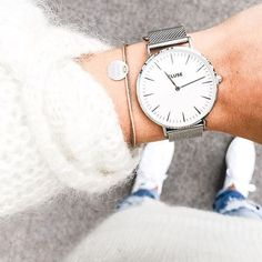 A dash of silver to complete your fall look! #CLUSE #watch #fashion