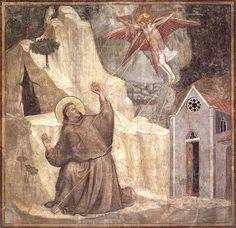 Giotto riceve le stimmate, 1320 c. Firenze, Santa Croce, Cappella Bardi by renzodionigi, via Flickr