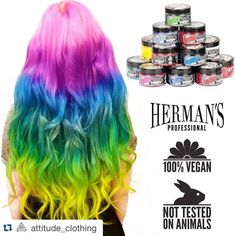 """""""#Repost @attitude_clothing ・・・ NEW ARRIVAL - Vegan friendly, cruelty free hair dye from Herman's Amazing Direct Hair Color! ❤️ ATTITUDECLOTHING.CO.UK…"""""""