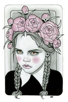 Wednesday Addams by Rose Ellen Swenson