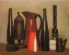 Giorgio Morandi ((July 1890 – June Still Life.He was one of the best modern Italian painters and the greatest master of Natura Morta (still life) in the century. Italian Painters, Italian Artist, Artist Painting, Painting & Drawing, Simple Subject, Still Life Artists, 7 Arts, Painting Still Life, Modern Artists