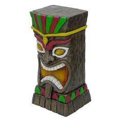 Outdoor Solar Lights Lowes Prepossessing Garden Treasures 205In H Tiki Garden Statue Lowes 4498 Solar