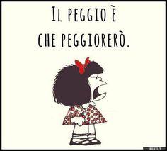 Il peggio è | BESTI.it - immagini divertenti, foto, barzellette, video Cogito Ergo Sum, Funny Quotes, Funny Memes, Sense Of Life, Charlie Brown And Snoopy, Magic Words, Charles Bukowski, Girl Humor, Cute Cards